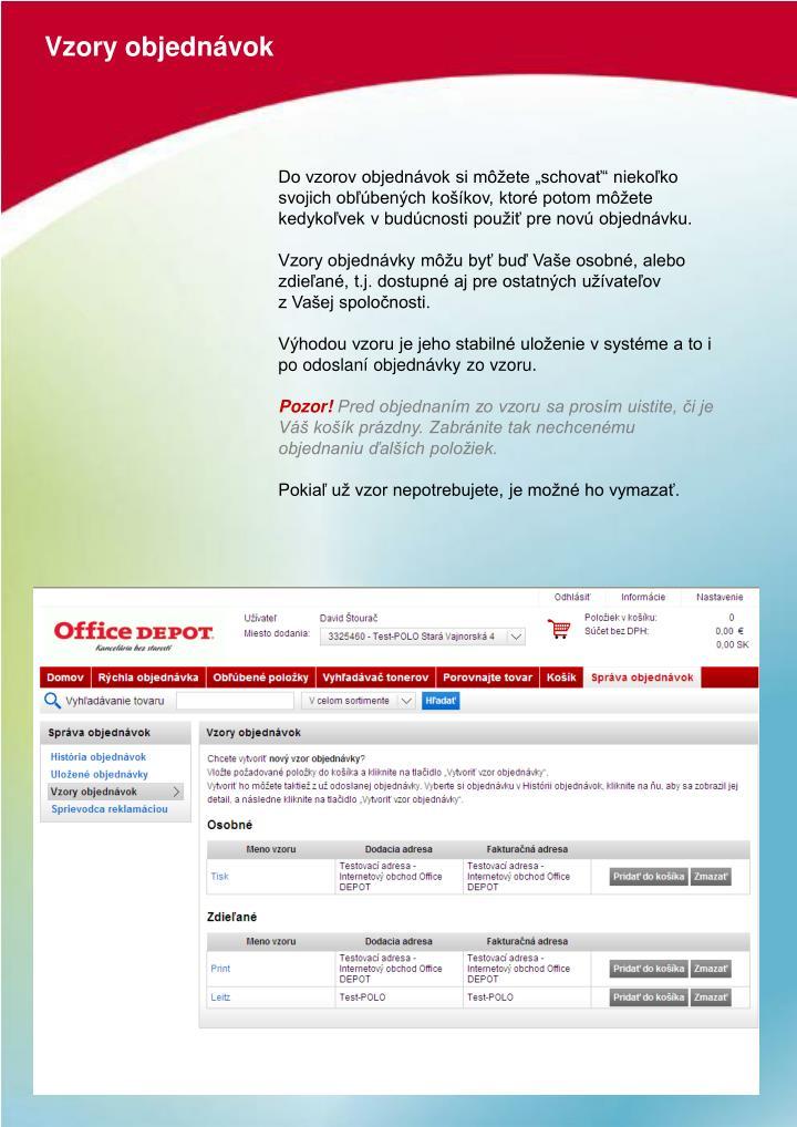 PPT - UŽIVATEĽSKÝ MANUÁL online.officedepot.sk PowerPoint ... ee23c23552d
