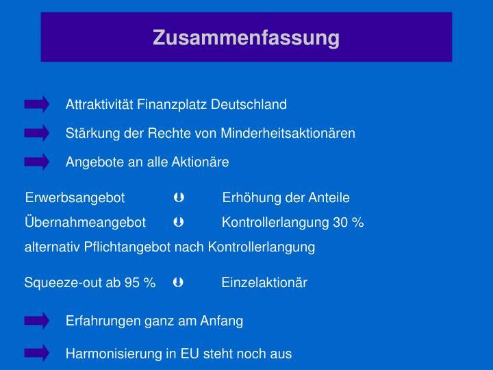 Attraktivität Finanzplatz Deutschland
