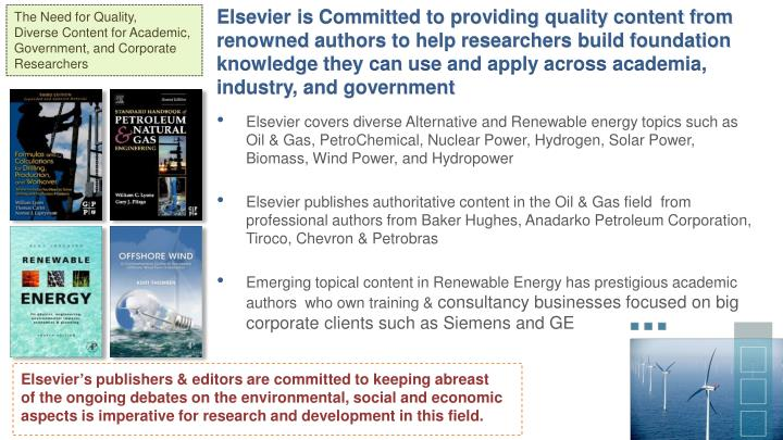 Elsevier is Committed to providing quality content from