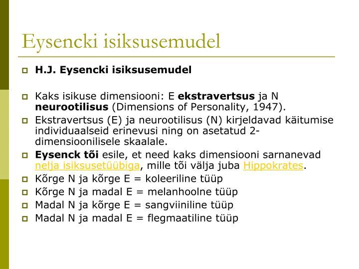 Eysencki isiksusemudel
