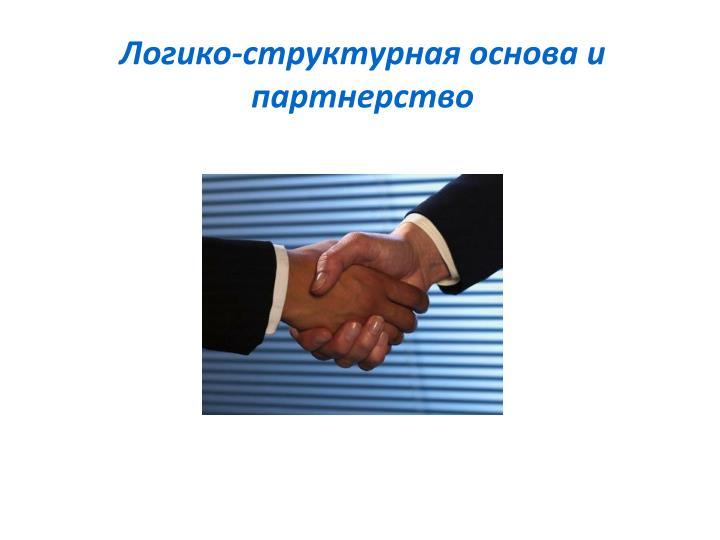 Логико-структурная основа и партнерство