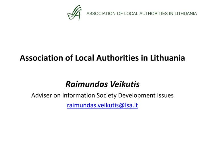 Association of Local Authorities in Lithuania