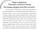 writer s workshop philosophy sharing is caring the reader benefits more than the writer