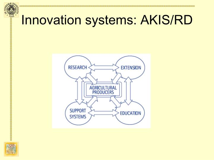 Innovation systems akis rd