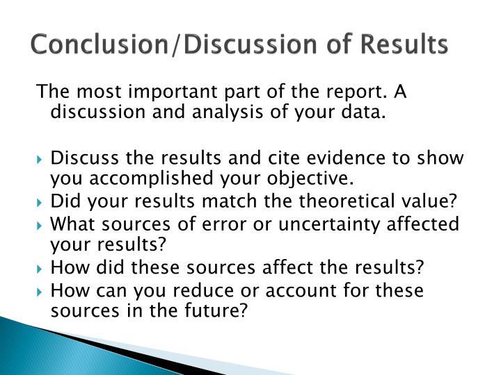 Conclusion/Discussion