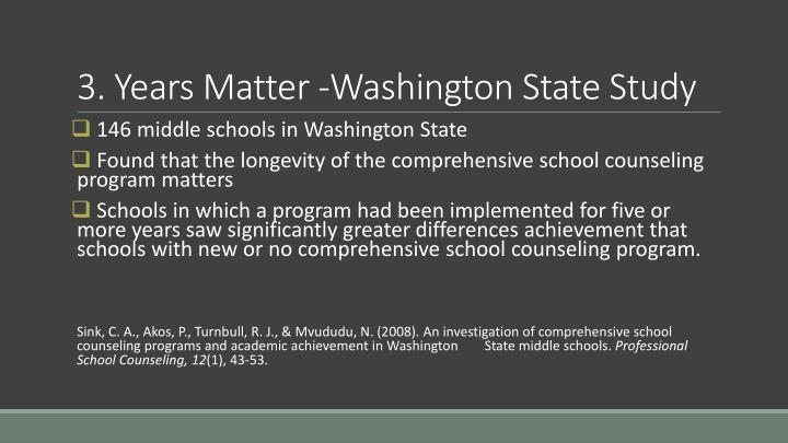 3. Years Matter -Washington