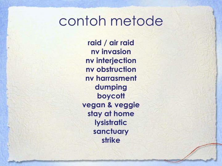 contoh metode