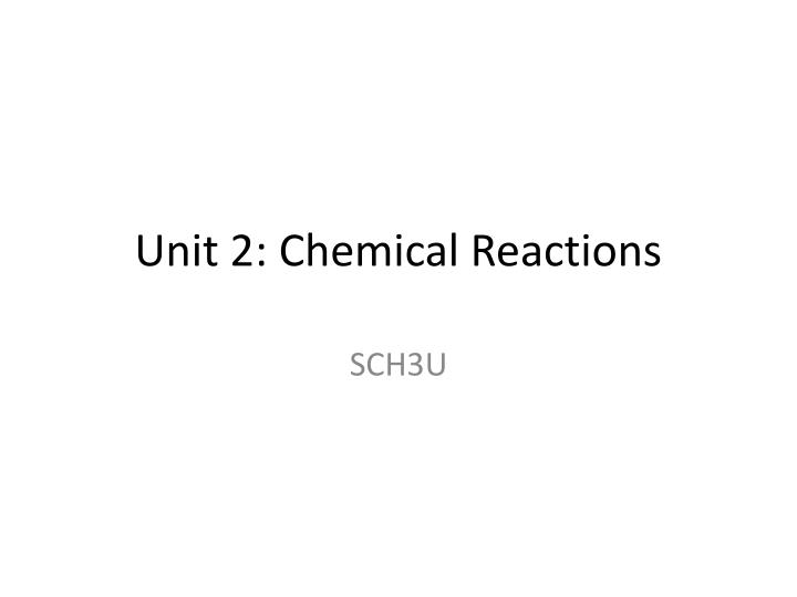 chemistry sch3u unit 1 Welcome to grade 11 chemistry please download the sch3u course outline unit: quantitative chemistry notes 1 introduction to measurement 1 the mole.
