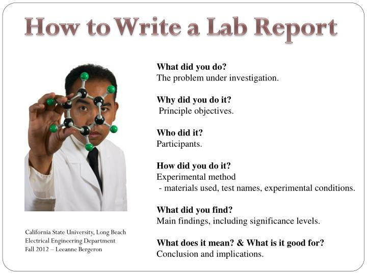 How To Write A Lab Report PowerPoint Presentation