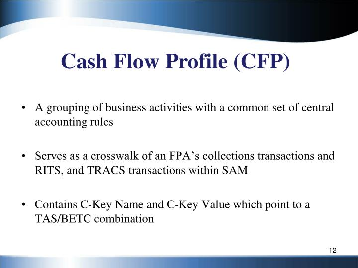 Cash Flow Profile (CFP)