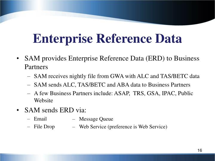 Enterprise Reference Data
