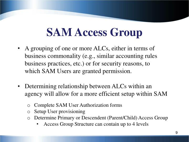 SAM Access Group