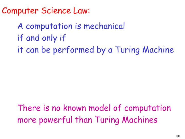 Computer Science Law: