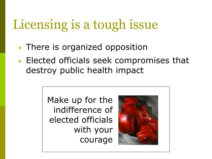 Licensing is a tough issue
