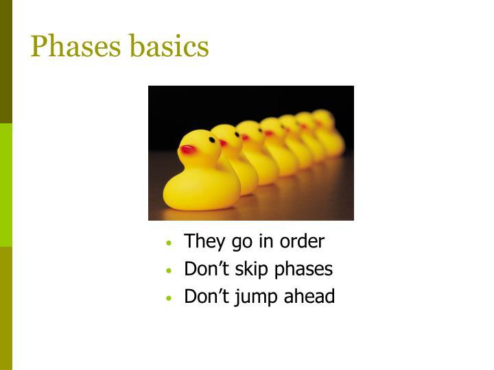 Phases basics