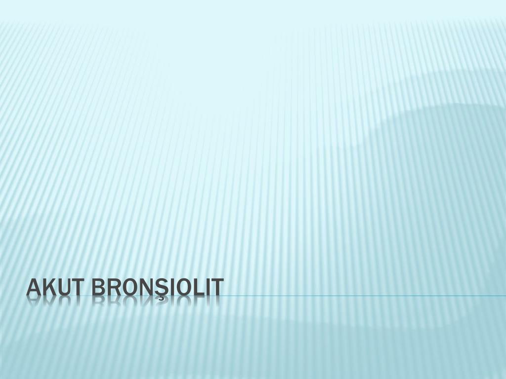 Bronşiolit tedavisi nasıl yapılır