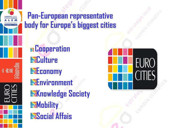 Pan-European representative body for Europe's biggest cities