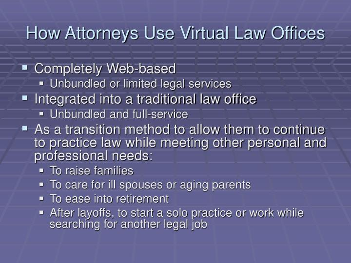 How Attorneys Use Virtual Law Offices