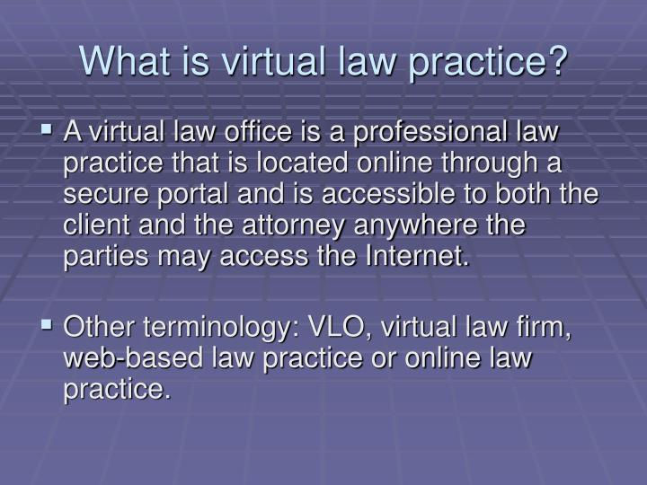 What is virtual law practice