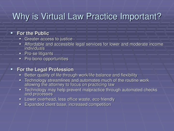 Why is Virtual Law Practice Important?
