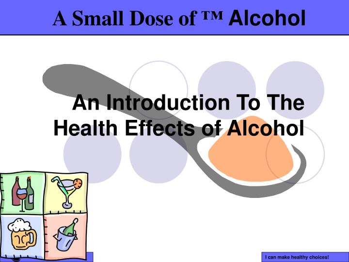 an introduction to the health effects of alcohol n.