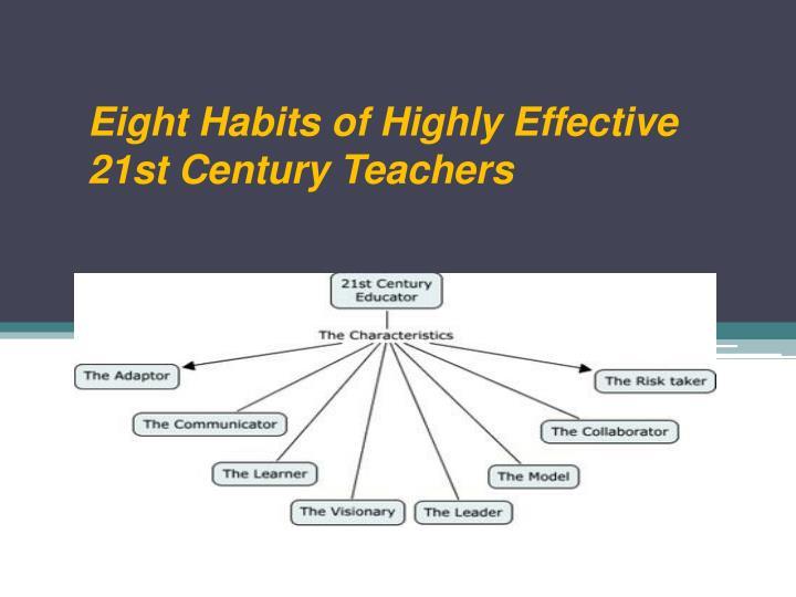 Eight Habits of Highly Effective 21st Century Teachers