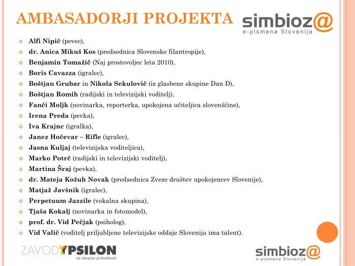 Ambasadorji projekta