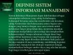 definisi sistem informasi manajemen