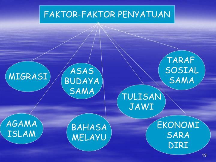 FAKTOR-FAKTOR PENYATUAN