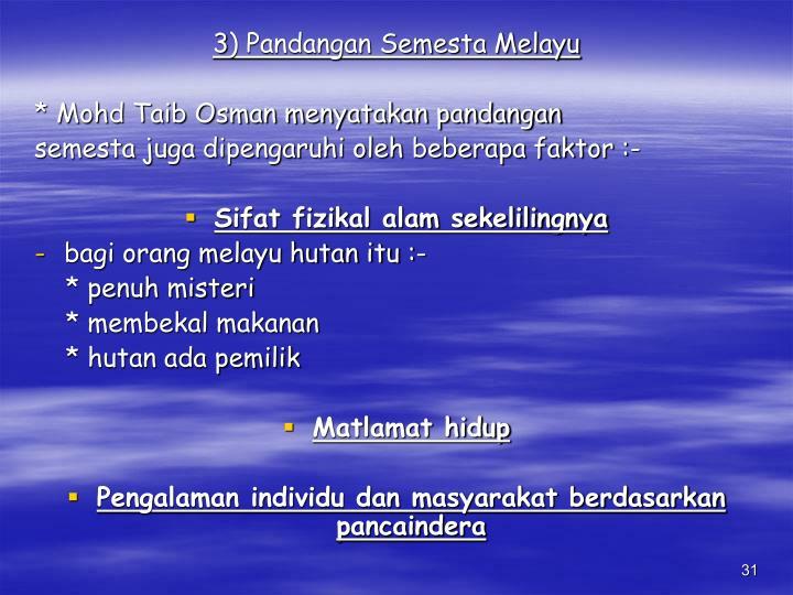 3) Pandangan Semesta Melayu