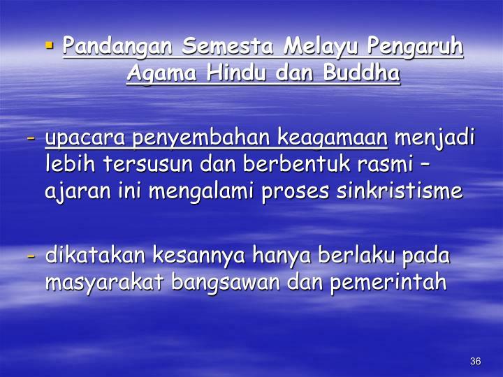 Pandangan Semesta Melayu Pengaruh Agama Hindu dan Buddha