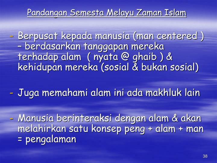 Pandangan Semesta Melayu Zaman Islam