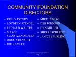 community foundation directors