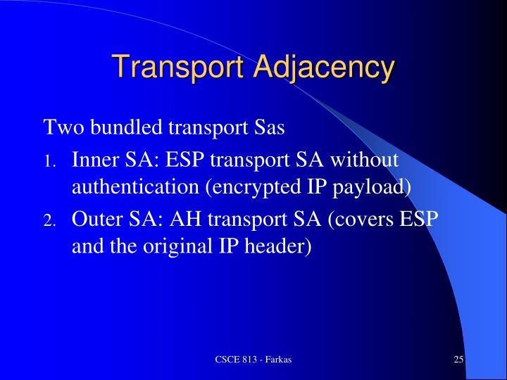 Transport Adjacency