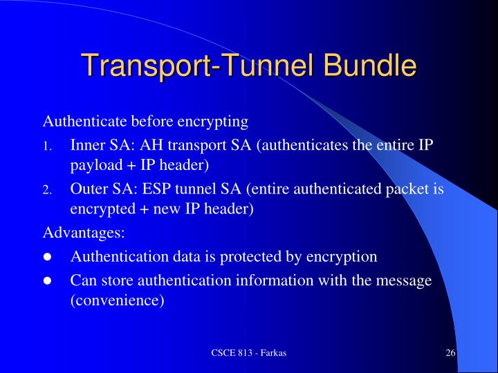 Transport-Tunnel Bundle