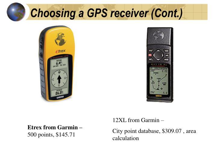 Choosing a GPS receiver (Cont.)