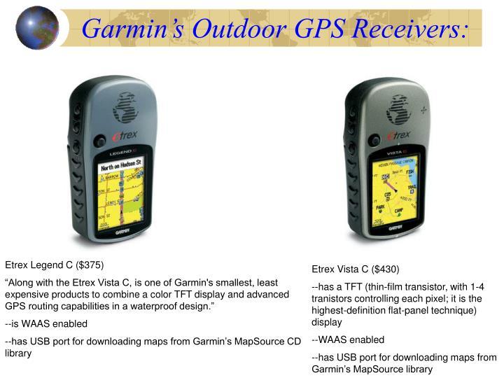 Garmin's Outdoor GPS Receivers: