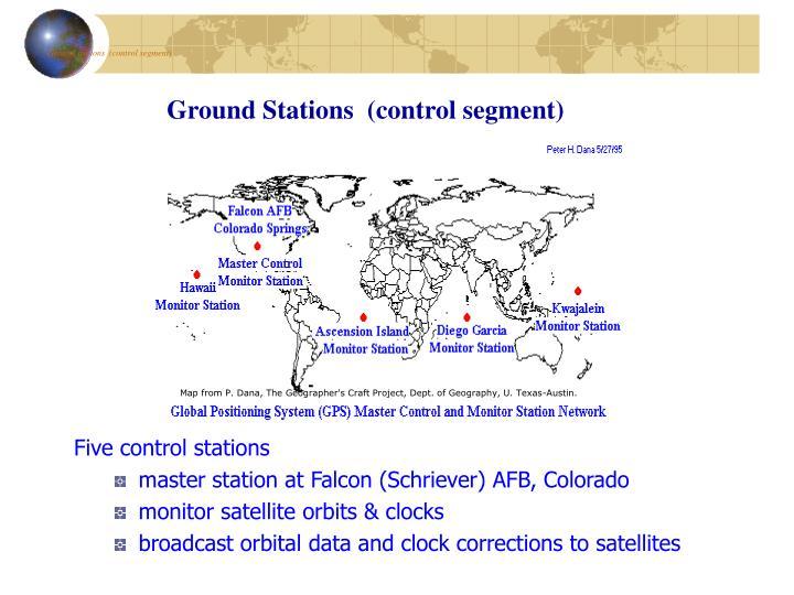 Ground stations  (control segment)