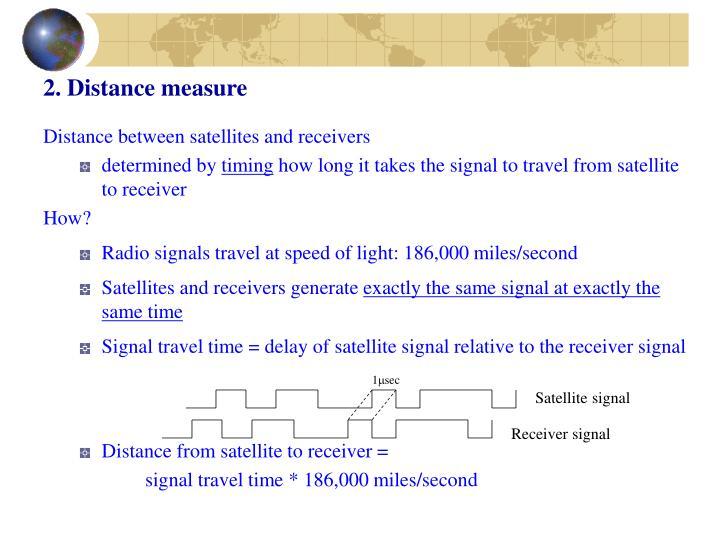 2. Distance measure