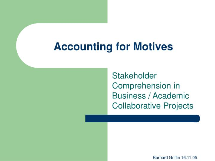 Accounting for motives