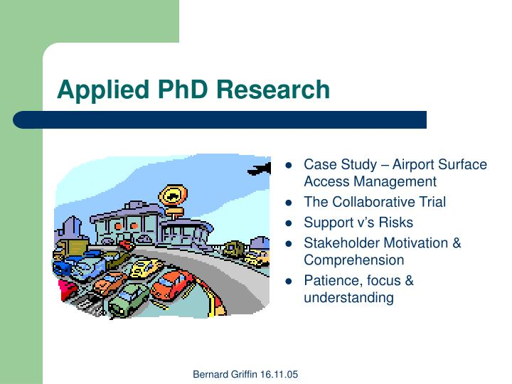 Applied PhD Research