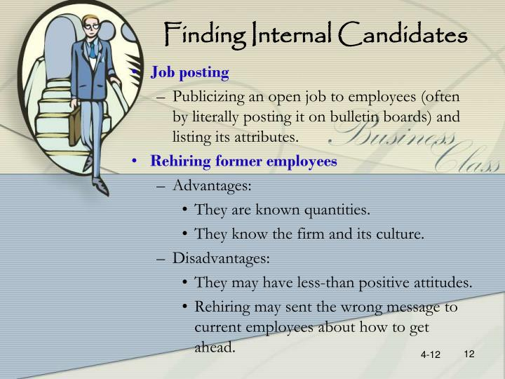 Finding Internal Candidates