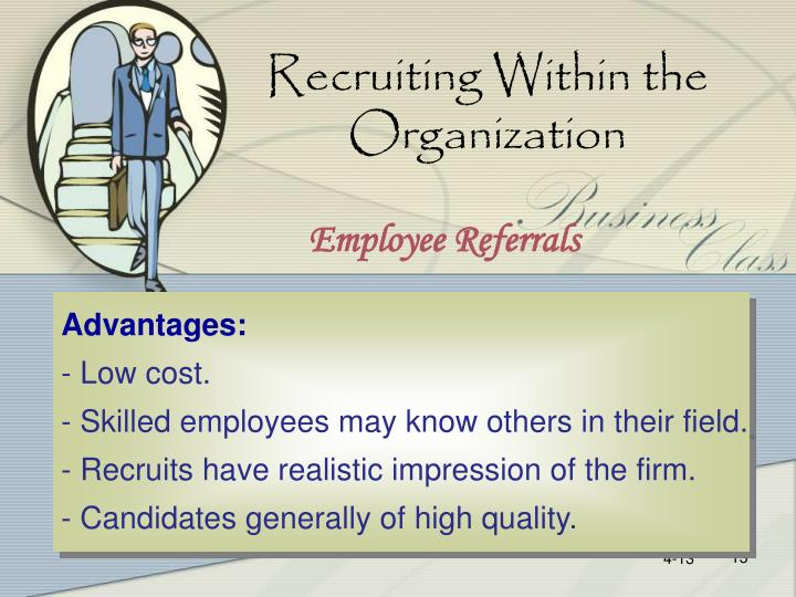 Recruiting Within the Organization