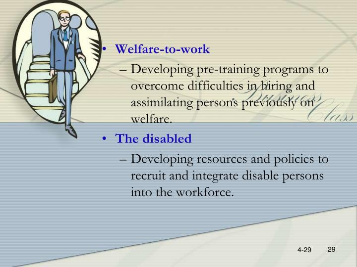 Welfare-to-work