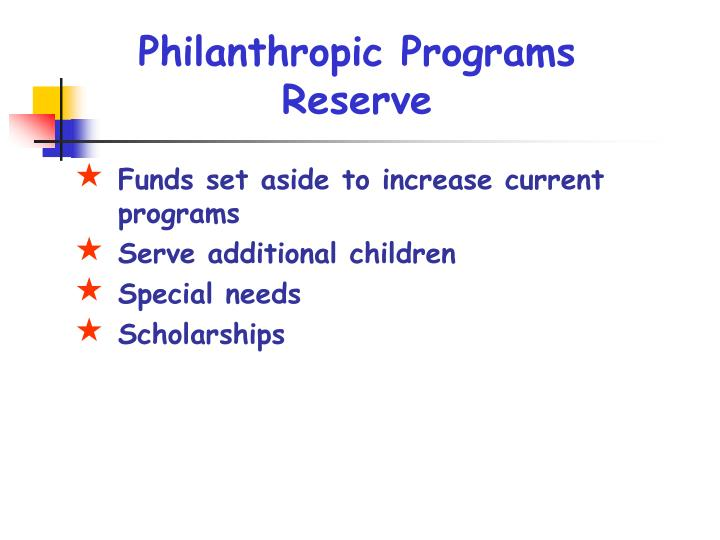 Philanthropic Programs