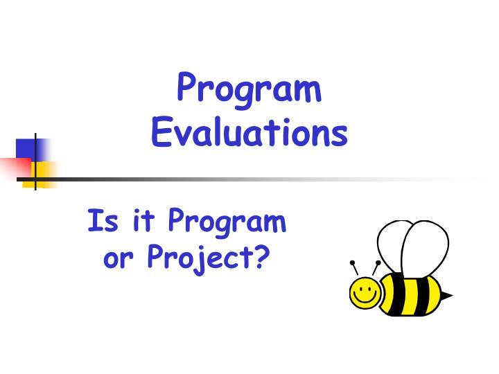 Program evaluations1