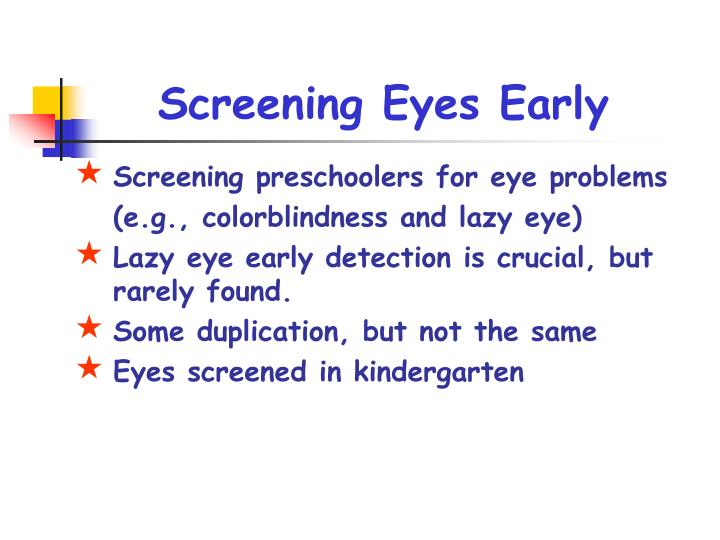 Screening Eyes Early