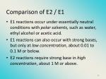 c omparison of e2 e1