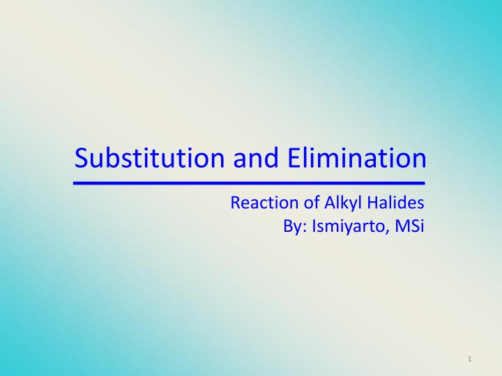substitution and elimination n.