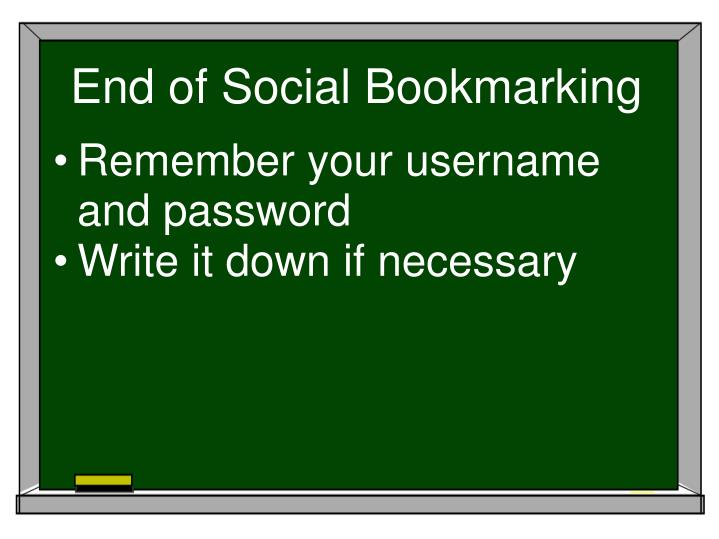End of Social Bookmarking